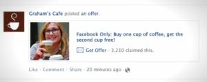 Facebook Offers tuo mielenkiintoisen ja viraalin tavan tarjota etuja/tarjouksia Facebook-sivun tykkääjille